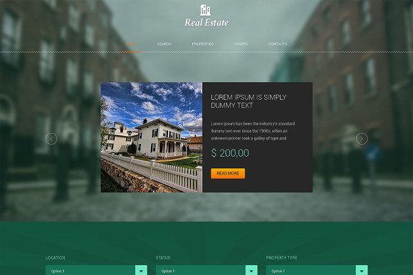Real Estate One Page Theme