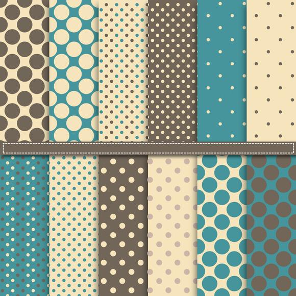 Vintage Polka Dot Digital Paper