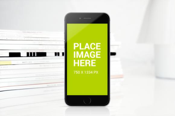 IPhone 6 Mockup In Light Settings