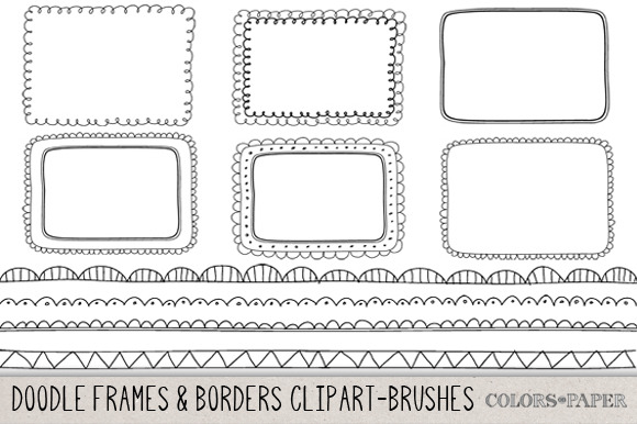 Hand Drawn Frames Borders Clipart