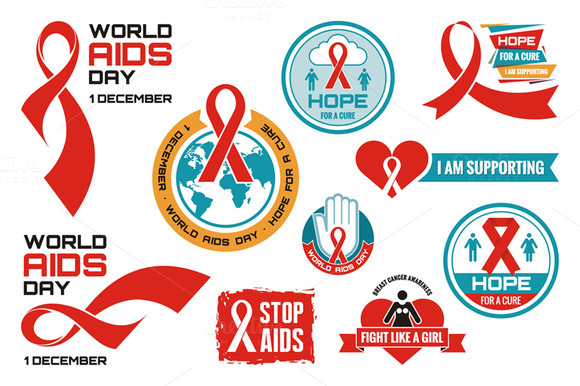 AIDS Vector Logos Badges
