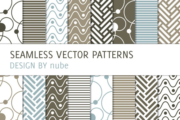 16 Patterns With Dots And Waves