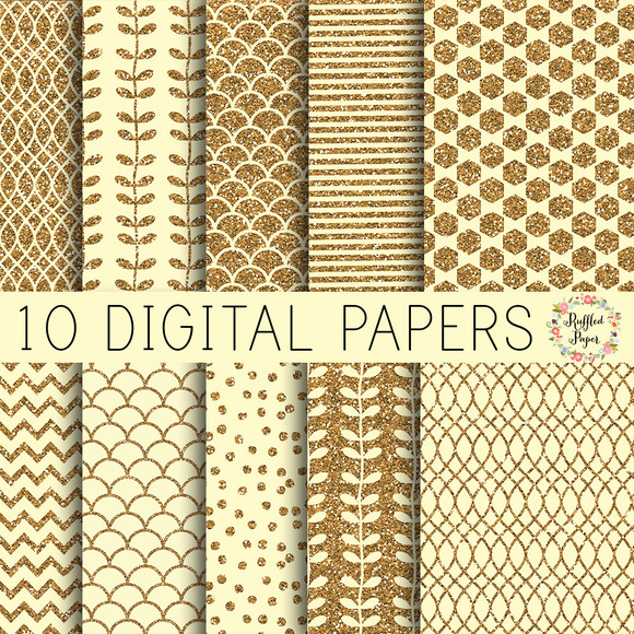 Ivory Digital Paper Pack