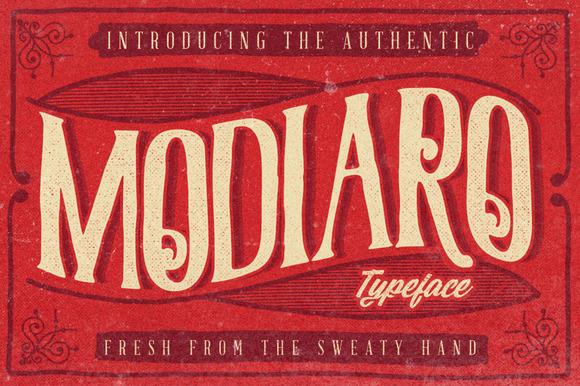 Modiaro Typeface