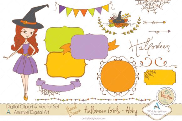 Halloween Girl-Abby-Clipart Vector