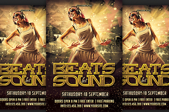 Beats Sound Party Flyer