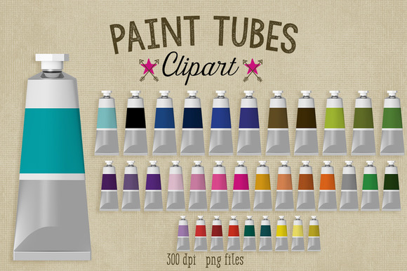 Paint Tube Clipart