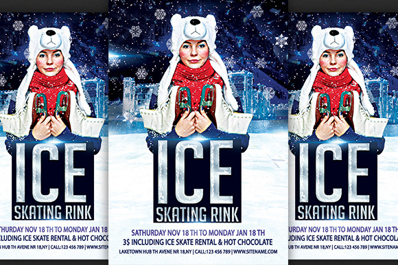 Ice Skating Rink Flyer
