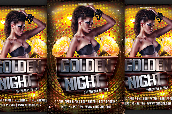 Golden Night Pary Flyer