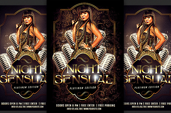 Sensual Night Party Flyer