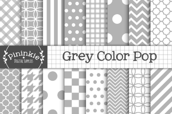 Grey Digital Gray Scrapbook Paper