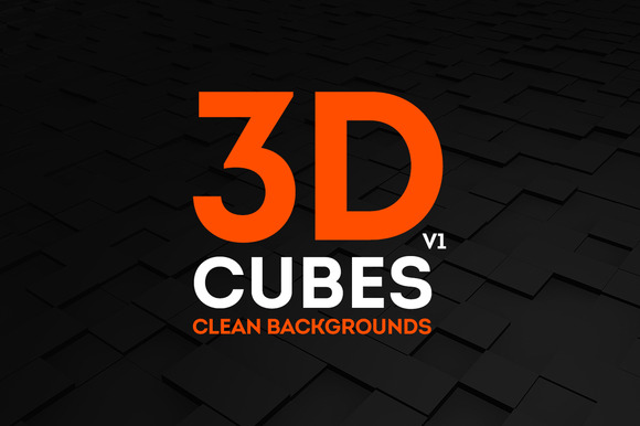 3D Cubes Clean Backgrounds B W