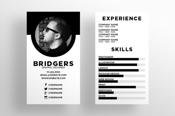 The Resume Business Card Template