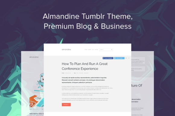 Almandine Tumblr Theme