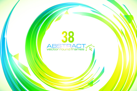 38 Vector Futuristic Round Frames