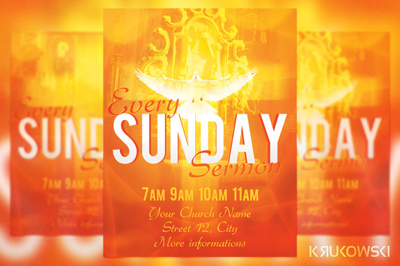 Sunday Sermon Flyer