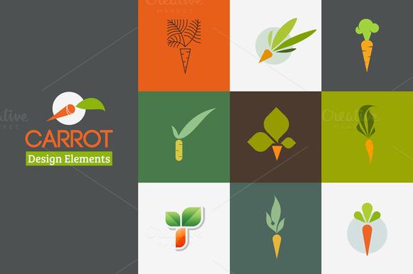Carrot Set Of Logos Templates