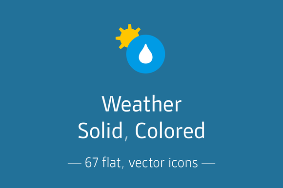 Weather Solid Icon Pack