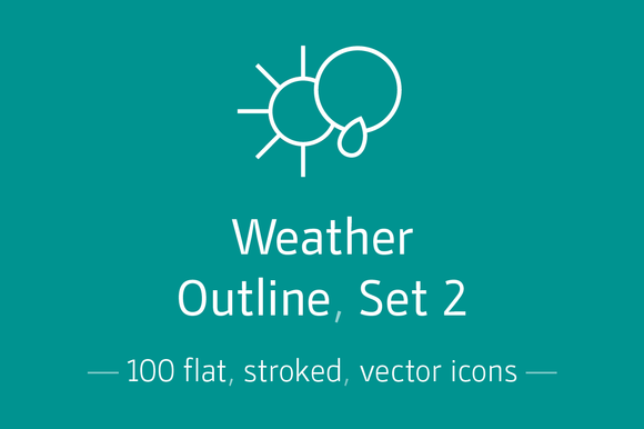 Weather Outline Set 2- Icon Pack