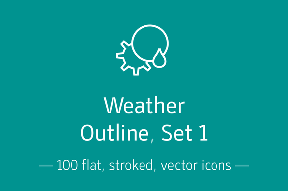 Weather Outline Set 1 Icon Pack