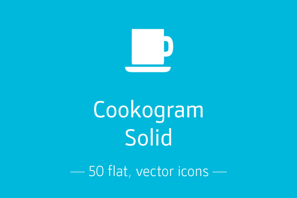 Cookogram Solid Icon Pack