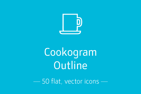 Cookogram Outline Icon Pack