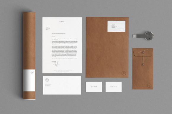 2 Stationery Mock Up Kraft Paper