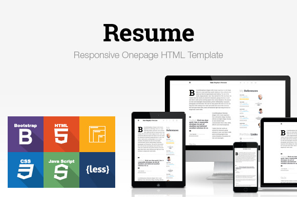 Responsive HTML Resume Template