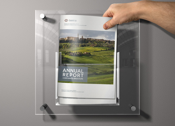 Annual Report Sharp InDesign Templat