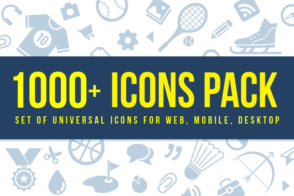 1000 Vector Icons For Mobile Web