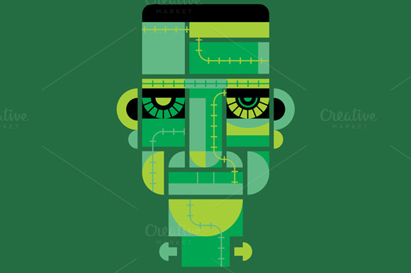 Abstract Frankenstein Character