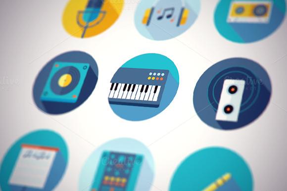 Music Icons Flat Set