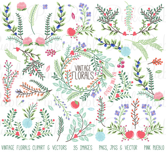Vintage Floral Clipart And Vectors
