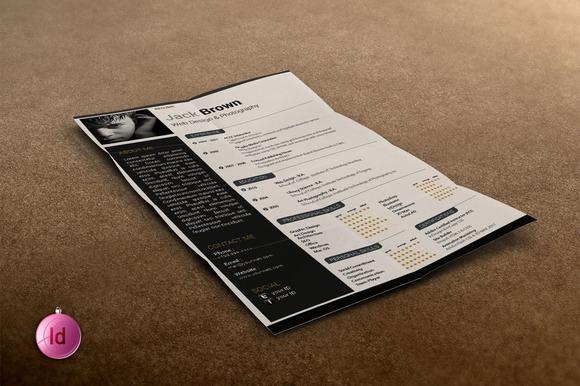 Indesign Resume Set