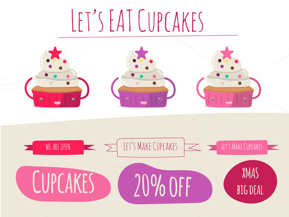 Let S Eat Cupcake Vector