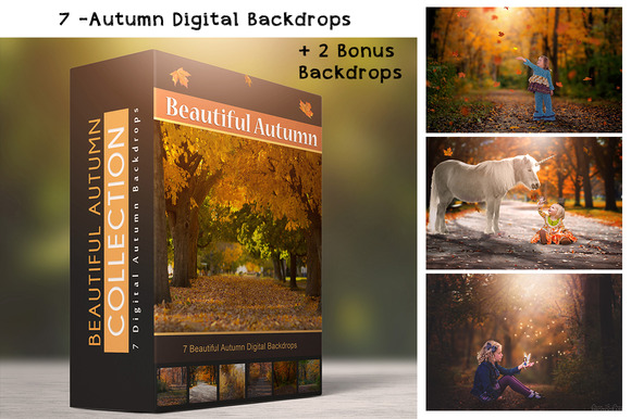 Autumn Backdrops 7 Digital