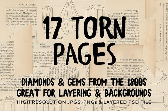 Vintage Torn Pages Bonus Layer PSD