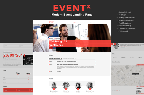 EVENT X Modern Event Landing Page