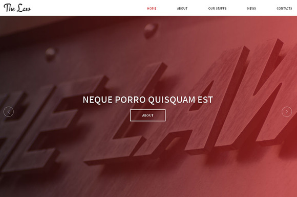 The Law Responsive One Page Theme