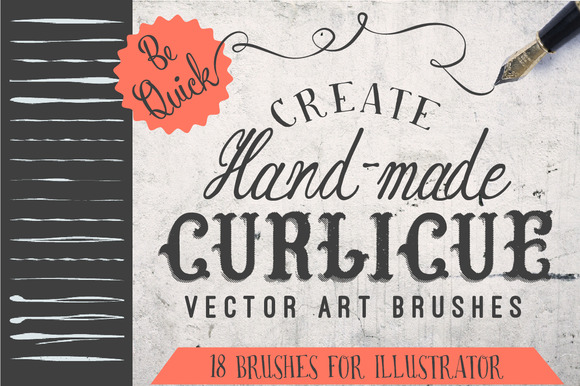 18 Curlicue Brushes