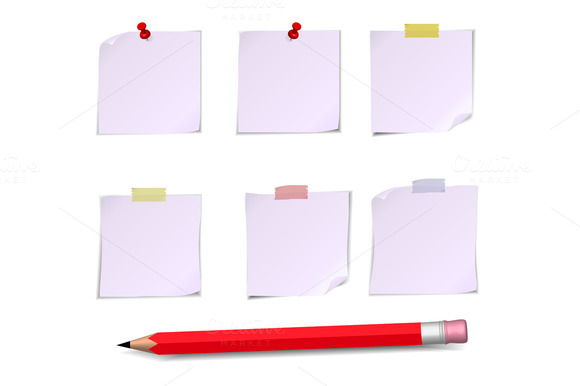 Adhesive Notes With Pin Scotch And