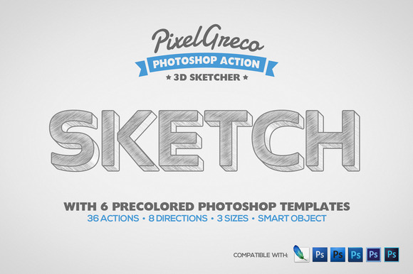 3D Sketcher Photoshop Actions