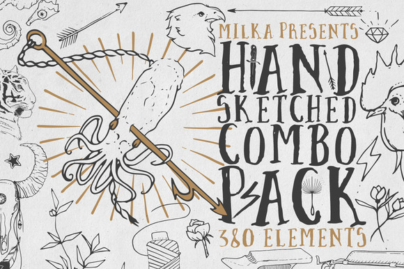 Hand Sketched Combo Pack