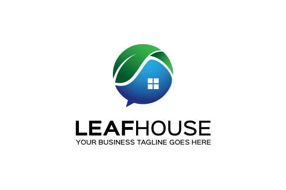 Leaf House Logo Template