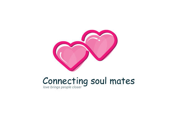 Connecting Soul Mates Logo Template