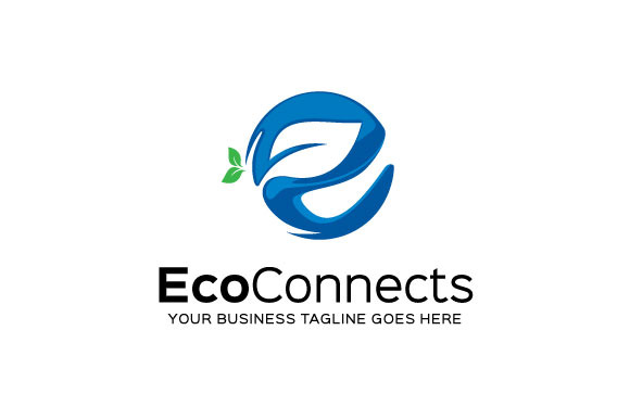 Eco Connects Logo Template