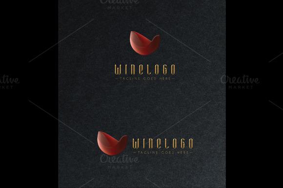 Wine Logo Gold Effect Light Effect