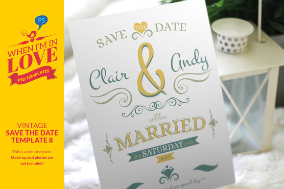 Vintage Save The Date Template 8