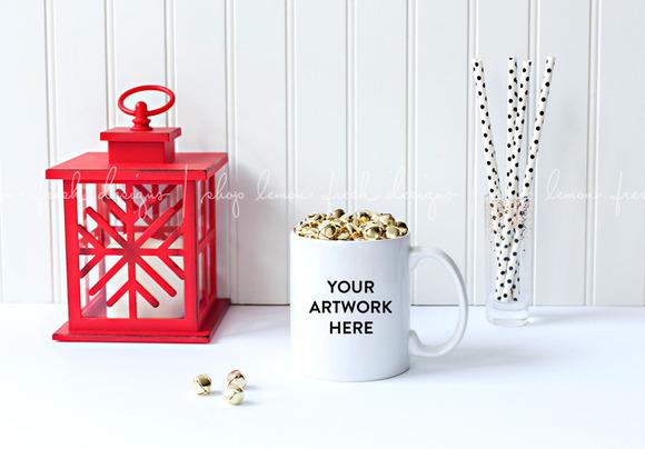 Christmas Styled Mug Stock Image
