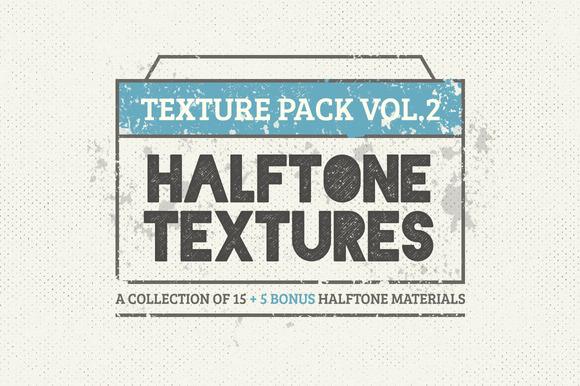15 Halftone Textures 5 Bonus